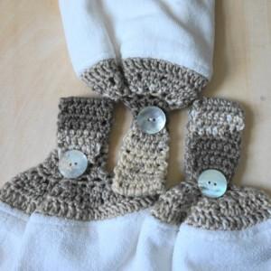 Gulf Sands Crochet Top Towel, Bathroom Hand Towel, Crochet Bathroom Towel