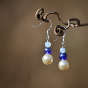 Tri Blue Earrings
