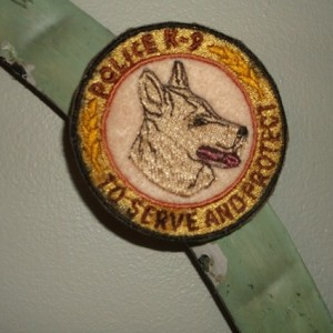 machine embroidery K-9 Badge