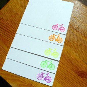 Gocco Printed Bicycle Notecards (5 pack)