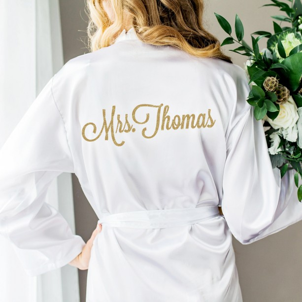 Wedding Robe for Bride, Bridesmaids, Bridal Party Personalized ROB100-GG