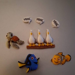 Magnets, 7 Strong Refrigerator Magnets, Cubicle Decor, Locker Magnets, Office Supply, Finding Nemo,  Disney,  Dory, Disneyland