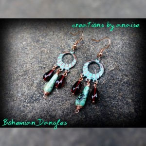 Bohemian Gypsy Ruby Earrings