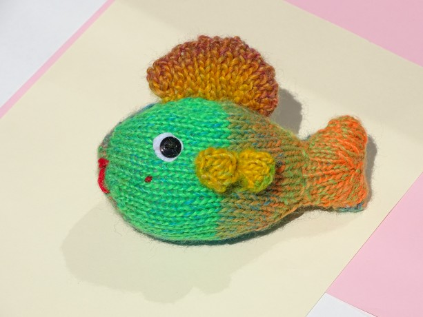 Hand Knit Fish Tropical Knited Toy In Colors Small