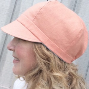 Spring Newsboy Hat - Curvy Sister Newsboy - Reversible Summer Hat for Women - Women's Reversible Newsboy Hat - Lightweight Linen-Blend Hat