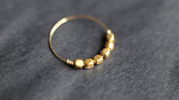 Handmade Minimalist Gold Ring Thin Gold Band Stacking Ring