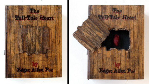 The Tell-Tale Heart book hideaway box. Unique & hand decorated