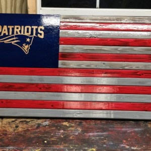 Patriots  Wooden Flag
