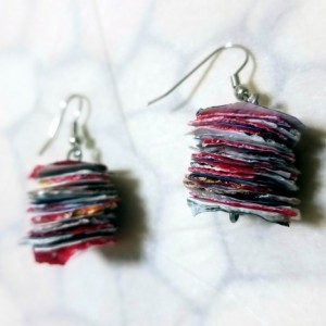 Recycled Earrings- Multicolor