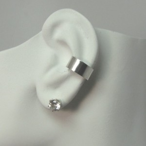 Conch Earring POST Pierced Cartilage Conch Hoop, Conch Earring Hoop, Conch Piercing Jewelry Sterling Silver Smooth Body Piercing E1SSSMPOST