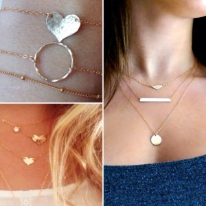 gold layered necklace set, y gold necklace, long gold lariat necklace, cz diamond necklace,  gold satellite chain, hammered gold circle