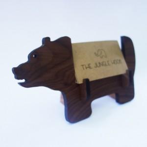 Bear business card holder for desk
