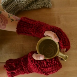 A Little Love Knitted Fingerless Gloves Handwarmers | For Her