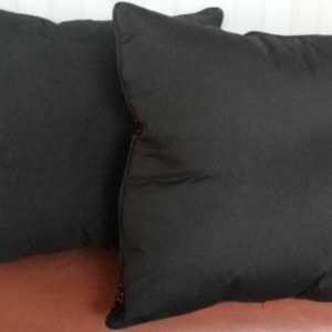 Embroidered Halloween Pillows -Set of Two