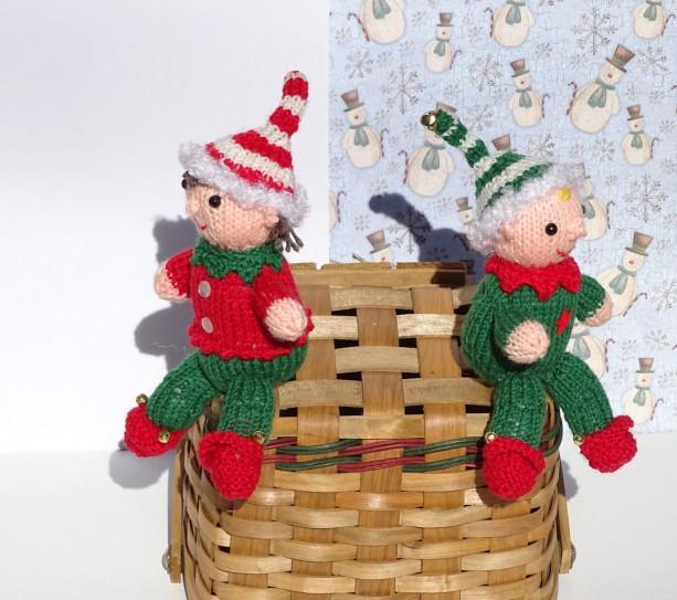 ... Knitted Christmas Elves, Knitted Elves, Christmas Decoration, Tree Ornaments, Santa's Helper, ...