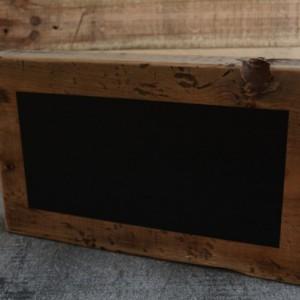 Large Reclaimed Wood Chalkboard Block