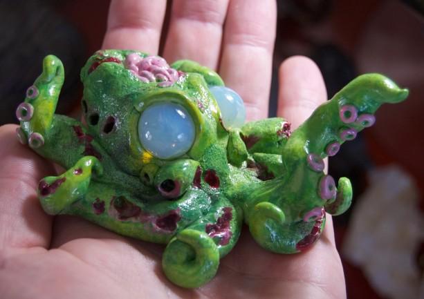 Zombie Octopus Sculpture