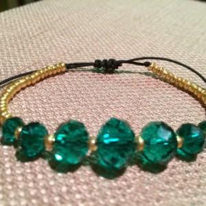 Emerald crystal bracelet