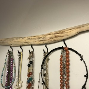 Simple & Stunning, Floating Driftwood Necklace Wall Hook