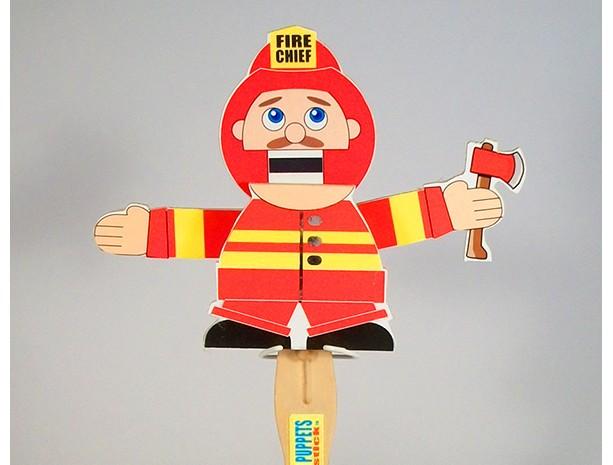 Wooden Puppet- Fireman