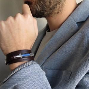 Men's Bracelet - Men's Arrow Bracelet - Men's Leather Bracelet - Men's Jewelry - Men's Gift - Boyfriend Gift -Husband Gift - Gift For Dad