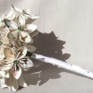 Custom Bouquet-Paper Flower Bouquet-Origami Flower Bouquet-Custom Bridal Bouquet-Bridesmaid Bouquet-Alternative Wedding Bouquets