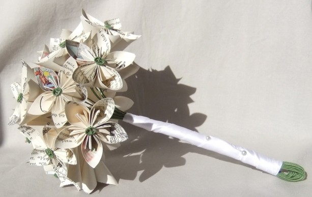 custom paper flower bridal bouquet aftcra