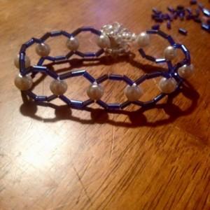 Handmade Pearl Beaded Bracelet