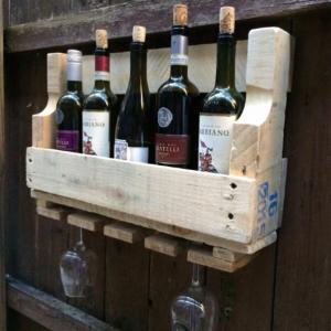 Rustic Handmade Wine Rack