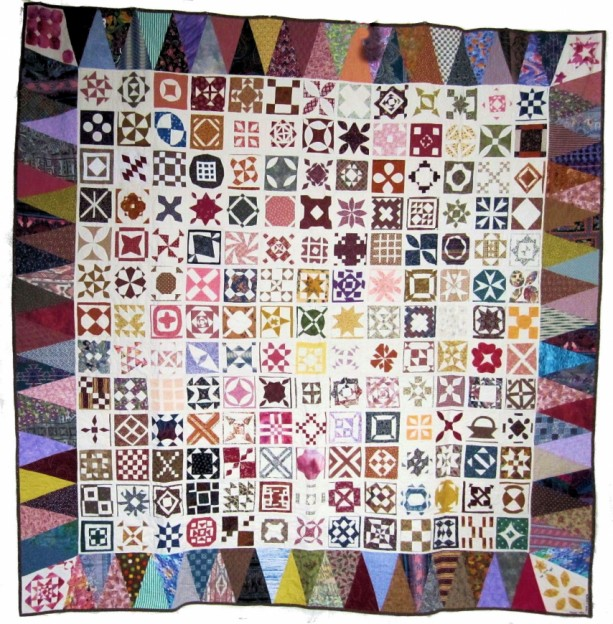 """Dear Jane"" Quilt Full or Queen 81"" x 81"" Appraised"