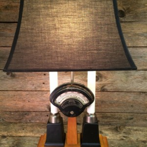 Weston Voltmeter Millammeter Lamp (vintage, re-purposed)  Table Lamp | Desk Lamp | Steampunk Lamp | Industrial Lamp | Edison Lamp | Marconi