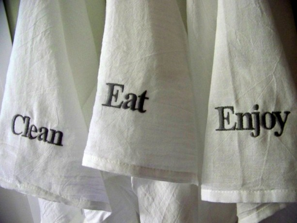 Embroidered Tea Towel