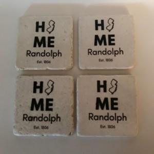 Custom Coasters-Non Stick Coasters-Personalized Coasters-Randolph NJ Coasters-Travertine Tile Coasters-Drink/Barware-Housewarming