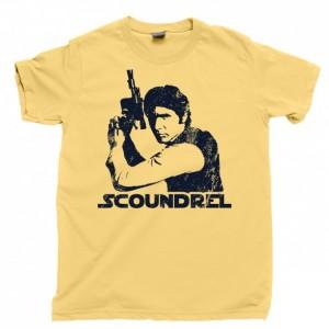 Han Solo Men's T Shirt, Scoundrel Smuggler Nerf Herder Chewie Millennium Falcon Unisex Cotton Tee Shirt