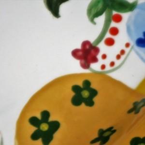 Hand painted Easter Egg large platter