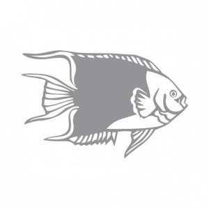 Tropical Fish Design One - Coastal Design Series - Etched Decal - Shower Doors, Sliding Glass Doors & Windows - Available in different sizes