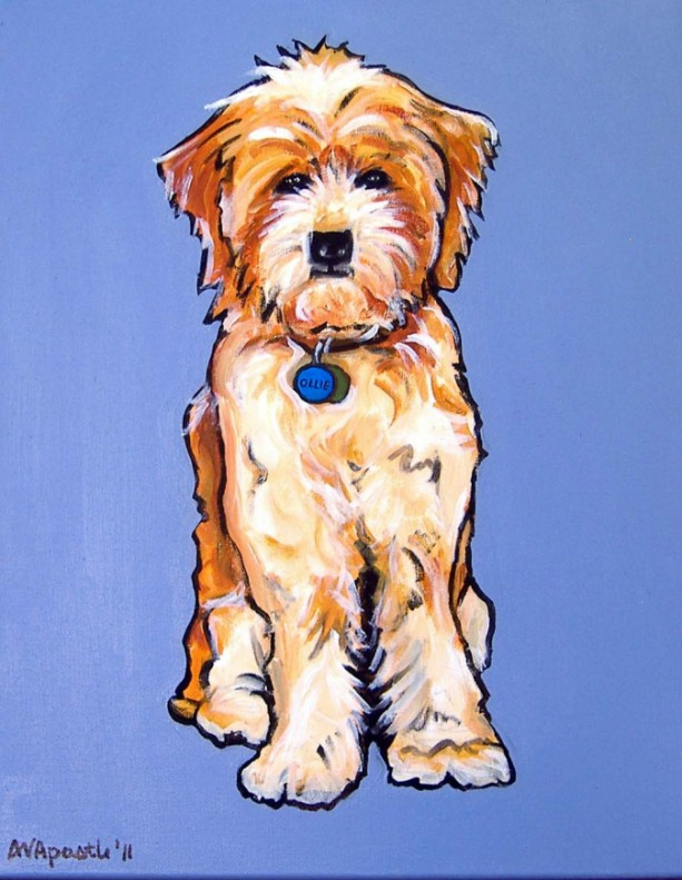 DOG Print- Rescued Dog - OLLIE - Signed by Artist A.V.Apostle