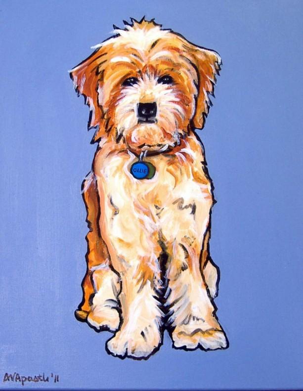 DOG Print- Rescued Dog - OLLIE - Signed by Artist A.V.Apostle