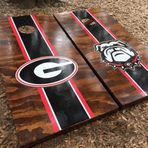 Georgia Bulldogs Cornhole Set with Bean Bags