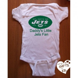 NY Jets Customized Baby Onesies, NFL Team, Football onesie, Custom Onesies, Baby shower gift, Christmas Gift, Custom NFL onesie