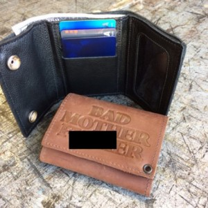 """Mature Bad Mother F*cker Mens Basic Trifold Wallet with snaps, 18"""" CHROME CHAINS ONLY, US Military Key FOB,Army,Navy,Marine,Vets,AF"""