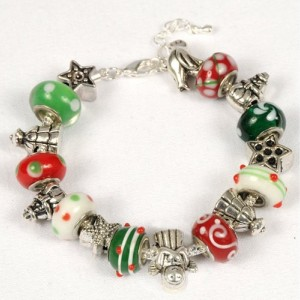 Christmas Bracelet, Holiday Jewelry, Christmas Spirit. Whimsical Christmas Bracelet