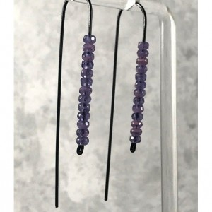 The Cecily | handmade bead earrings, wire drop earrings, Czech glass, seed beads, rondelle beads, Gifts for Her