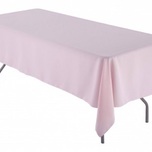 "60"" x 84"" inch Rectangular Pink Tablecloth Polyester 