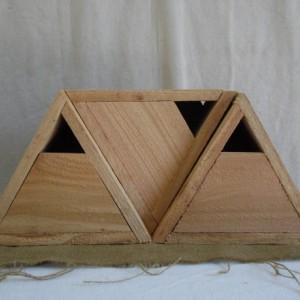 Cedar Triangle Birdhouse set of 3, 3 Rustic Birdhouses, Cedar Bluebird House, Rustic Cedar Birdhouse