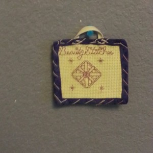 BeautyStitches Coaster Designs: Sparkles (bordered)