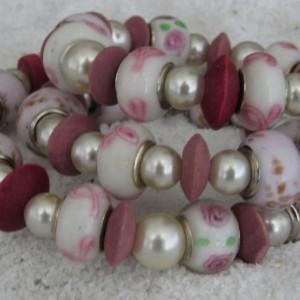 Beaded Bracelet Pretty in Pink