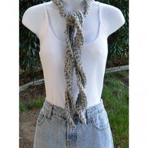 Small Twisted Gray Scarf