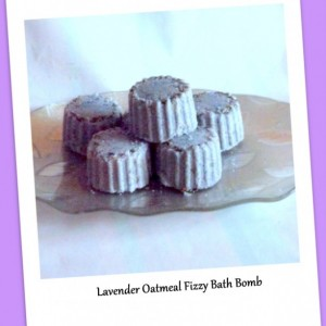 Natural Lavender Soap & Bath Fizzy Set