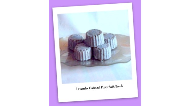 Lavender Oatmeal Fizzy Bath Bombs